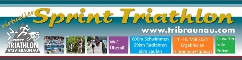 Banner virtueller Triathlon